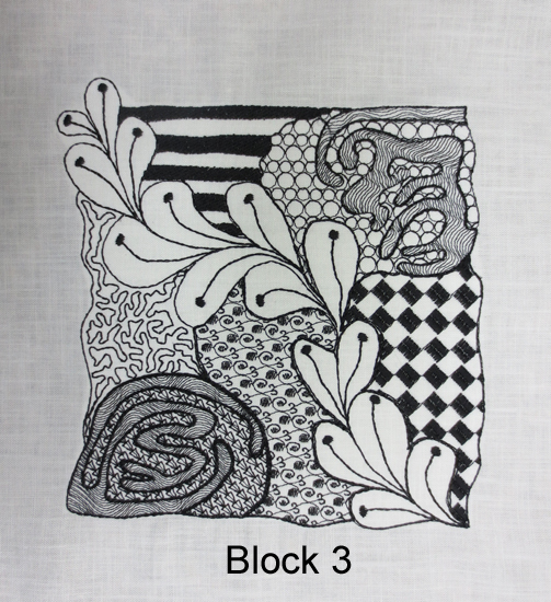 Tangled embroidery designs block
