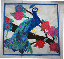Colorful Collage Peacock Pattern