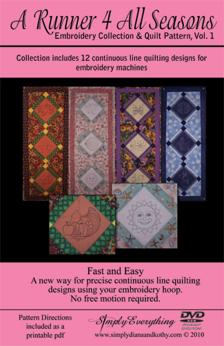 photograph relating to Free Printable Machine Quilting Designs referred to as A Runner 4 All Seasons