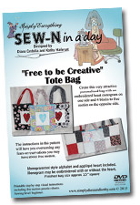"SEW-N in a day ""Free to be Creative"" Tote Bag"