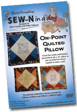 SEW-N in a day On-Point Quilted Pillow
