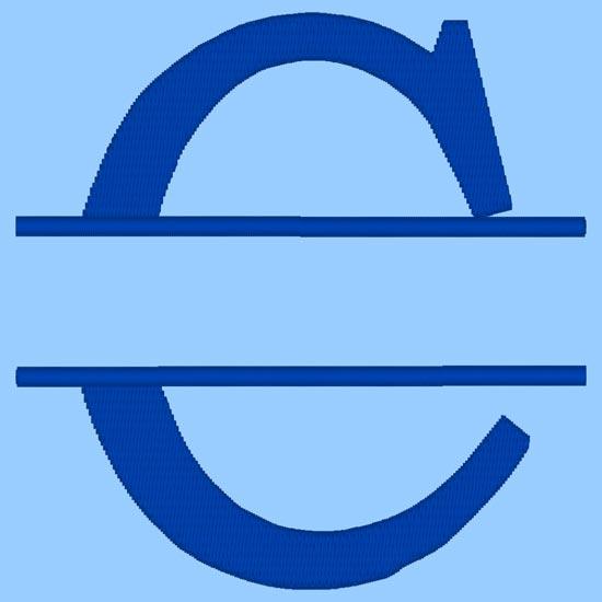 split monogram elegance